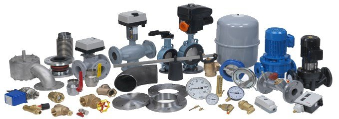 Central heating components in stock, including customised technical ...